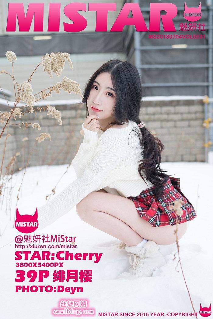 [MiStar魅妍社]2018.07.04 VOL.231 绯月樱-Cherry[39+1P/88.1M]